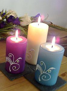Kynttilän koristelu kynät